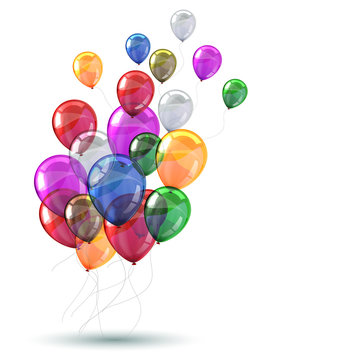 Colored helium balloons - vector for stock