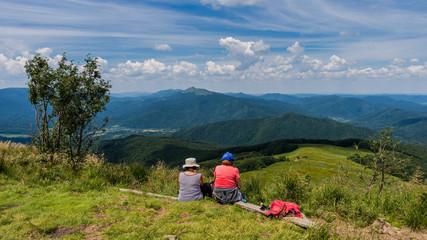 Fototapeta Rast auf der Wanderung zur Tarnica - Waldkarpaten; Ustrzyki Górne