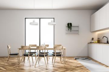 Luxury white kitchen interior