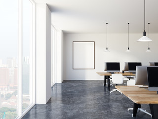 Luxury white office minimalistic style, poster