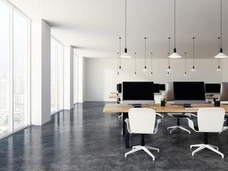 Luxury white office minimalistic style
