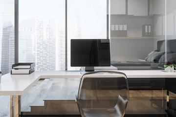 Modern freelancer compact comfortable office