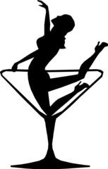 Girl in a Martini Glass