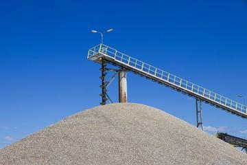 gravel extraction, mine industry, heavy conveyors