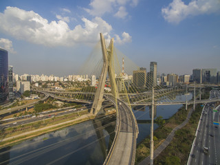 Cable-stayed bridge in the world, Sao Paulo Brazil, South America