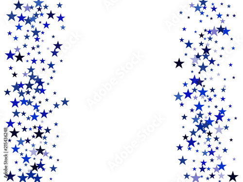 blue stars confetti glowing vector border background magic christmas lights gamour sparkles