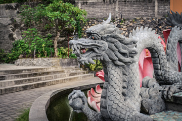Sculpture of dragon in budhist temple
