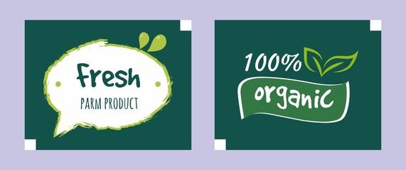 colorful organic food logo
