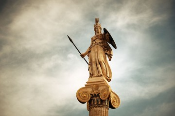 Wall Mural - Athena statue