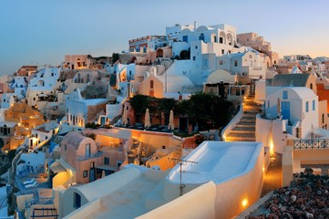 Santorini skyline sunrise