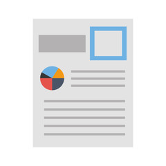 document file with statistics pie graph icon