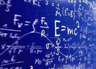 Mathematically and physical background, the concept of the study of science illustration
