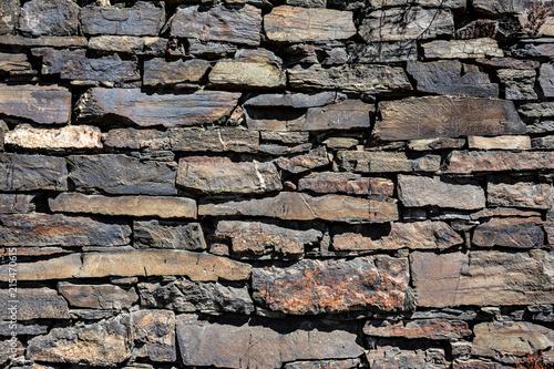 Schiefer Steine Wand Winzer\