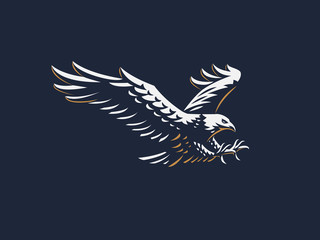 The flying eagle.