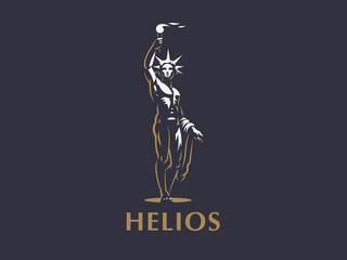 Helios the sun god.