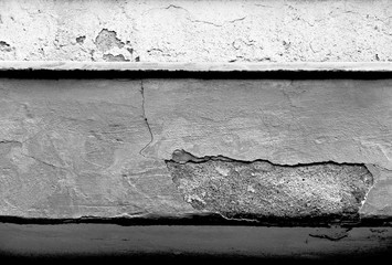 Abstract Surface Of A Wall - Black & White