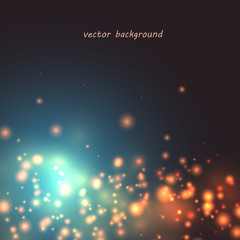 Background with spots of light vector