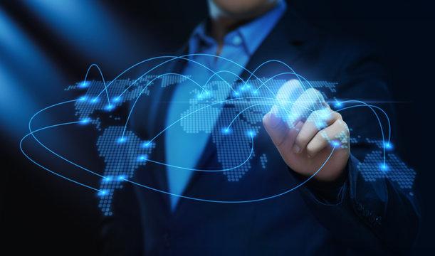 Global World Communication Connection Business Network Internet Techology Concept