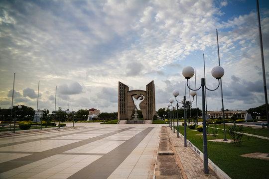 Exterior view to Monument de le independance, Lome, Togo