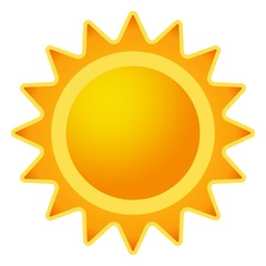 Sonne icon als Vektor auf einem isolierten Hintergrund
