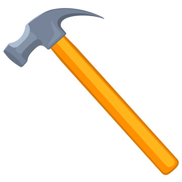Colorful cartoon claw hammer