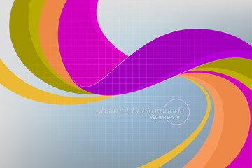 Abstract curvy colors concepts vector wallpaper backgrounds