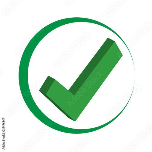 Green Check Mark Icon In A Circle Tick Symbol In Green Color