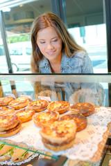 girl choosing snack