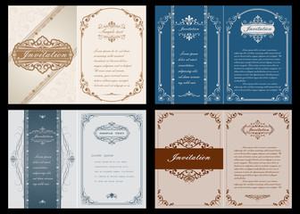 premium invitation or wedding card