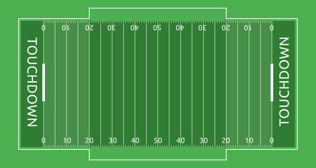 American footbal field vector sport illustrationечать