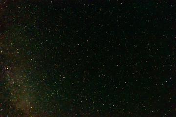 Dark night sky with shiny stars for background