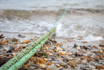 ropes leading out to sea