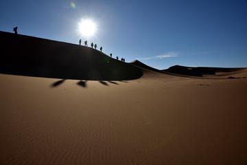 Walking of the dunes