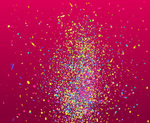Confetti on isolated background. Geometric pattern with shine glitters. Texture for design. Print for banners, posters, flyers and textiles. Greeting cards
