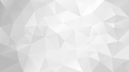 vector abstract irregular polygonal background - triangle low poly pattern - very light soft grayscale - white and gray