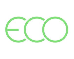 Logo eco green vector