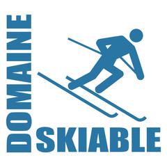 Logo domaine skiable.