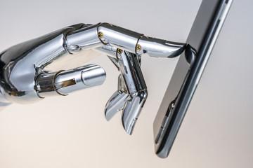 metal robot hand
