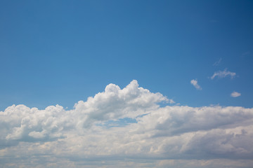 White beautiful clouds and blue sky