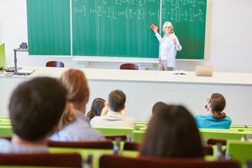 Dozentin unterrichtet Mathematik