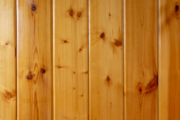 Background of yellow varnished boards
