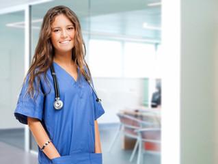 Portrait of a smiling young nurse