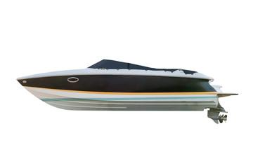 motor boat isolated on white background