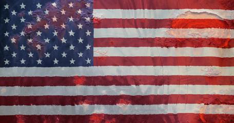 USA flag, grunge style