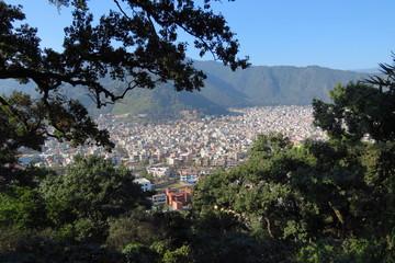 Kathmandu city seen from above, from the Swayambhunath Stupa aka Monkey Temple