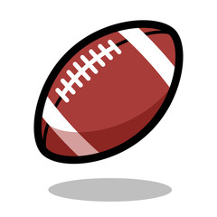 American football rugby sport ball logo vector line 3d icon