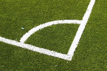 Pitch football angle close-up