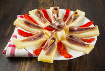 Queso con anchoas