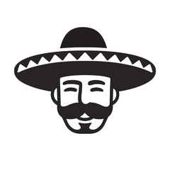 Mexican man in sombrero