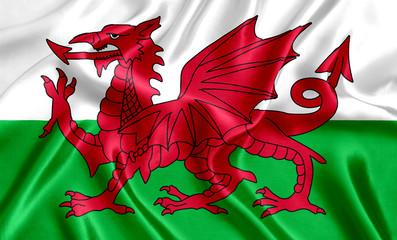 Fototapeta Welsh flag silk obraz